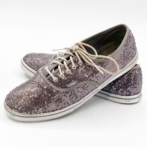Vans Off The Wall Womans Sequin Size 9.5 Sneakers